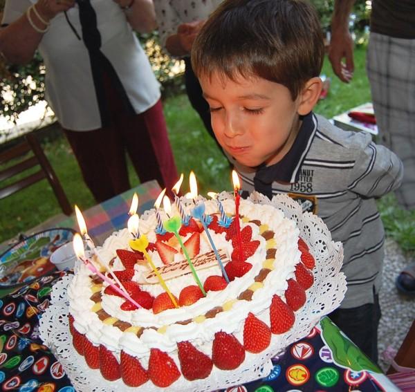 la festa di compleanno dell'anno scorso